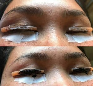 Bruidsmakeup | Bruidskapsel | Make-up | Hairstyling wimperlifting-lash-lift-300x278 wow effect wimperlifting wimperkruller natuurlijk effect make-up lash lift gekrulde wimpers elleebana bruiloft