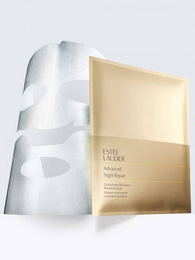 Bruidsmakeup | Bruidskapsel | Make-up | Hairstyling estee-lauder-advanced-night-repair-powerfoil-mask--768x1024 sheet mask Origins Drink up nachtmasker lijntjes kleimasker Kiehl's Gezichtsmasker huidveroudering Glamglow Youthmud Estée lauder advanced night repair powerfoil mask droge huid